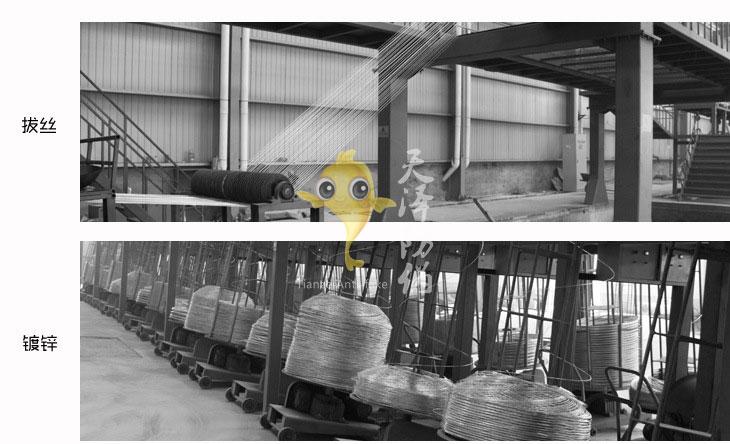 镀锌刺绳生产过程
